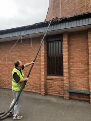 is gutter cleaning a good business man cleaning